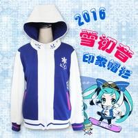 Anime Sneeuw Geluid Cosplay Kleding VOCALOID Miku Kostuum Jasje Vrouwen Kostuum Dikke Hoodie Gratis Verzending Nieuwe