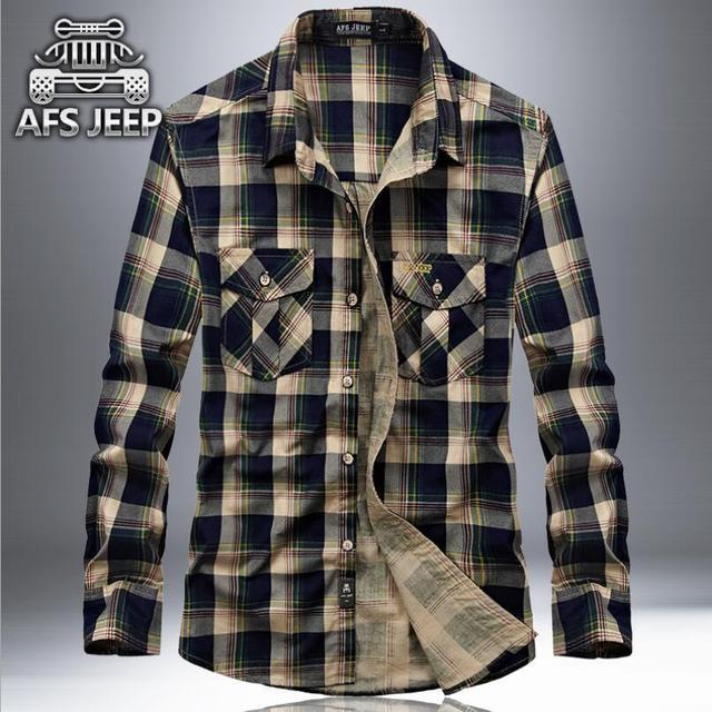 Marque carreaux 100 Jeep Original Coton chemises AFS Hommes à wxx1zOHYq