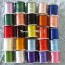 Разноцветные сильным строку эластичным шнуром темы для бисера браслет аксессуары и украшения 10 м рулон