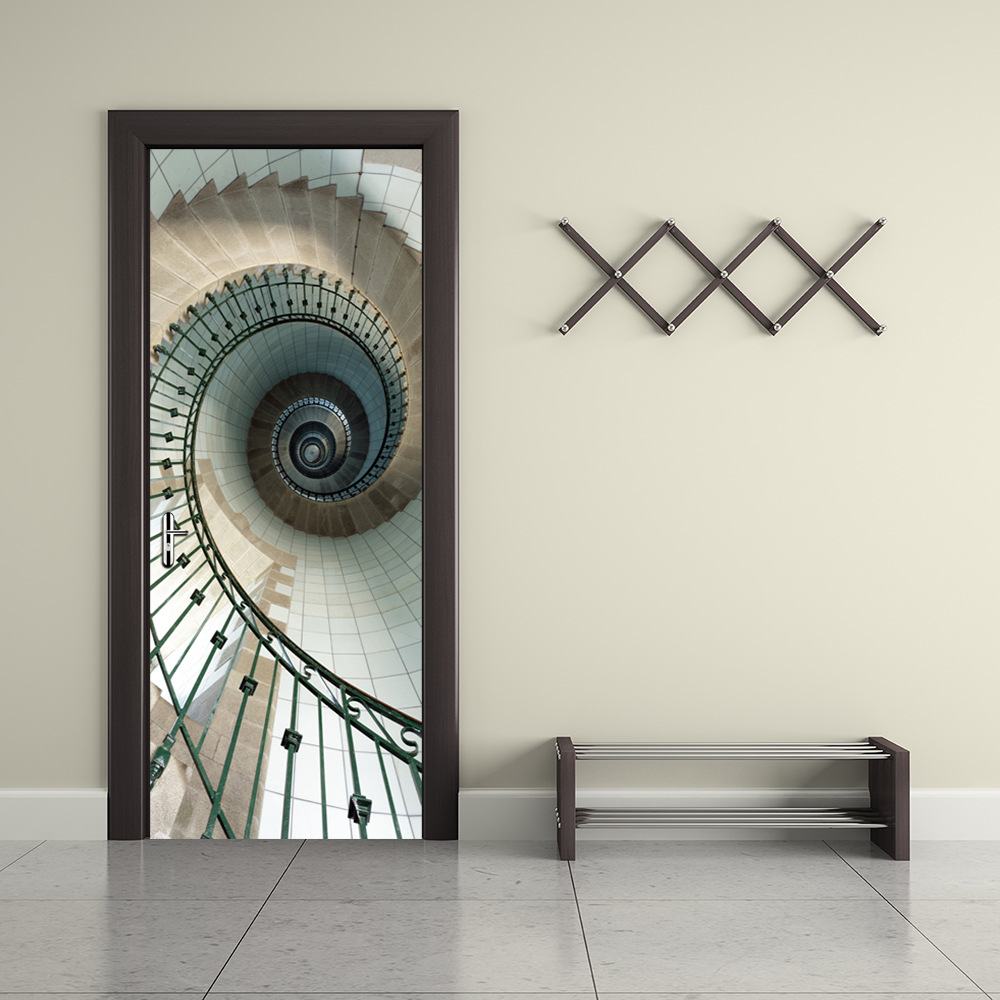 2 pcs set hotel door wall stickers diy abstract mural for Hotel door decor
