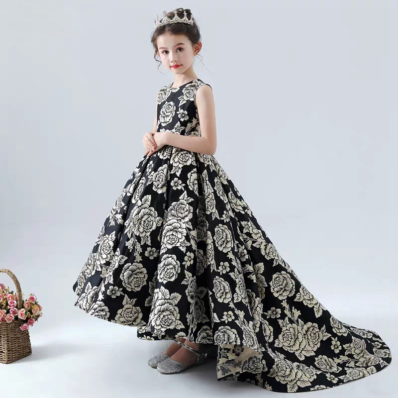 2019Children Girls Fashion Dance T-Stage Model Show Princess Long Tail Dress Kids Teens Elegant Piano Pageant Host Ball Dresses2019Children Girls Fashion Dance T-Stage Model Show Princess Long Tail Dress Kids Teens Elegant Piano Pageant Host Ball Dresses