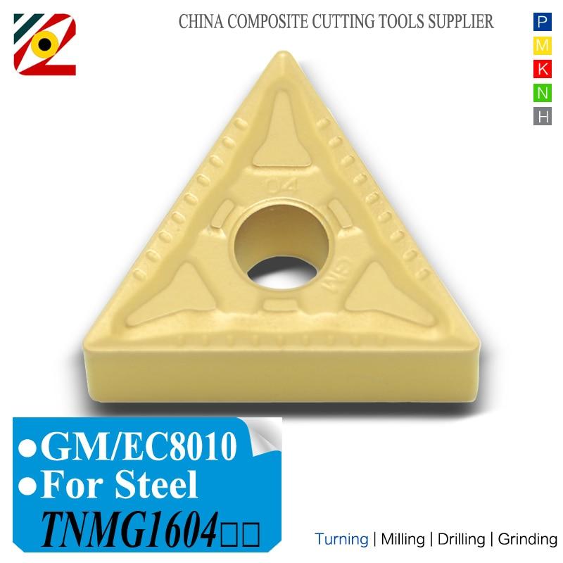 Inserti in metallo duro per utensili CNC TNMG160404 TNMG160408 TNMG331 TNMG332 Lama in lega di tungsteno TNMG 160404 per acciaio tipo P