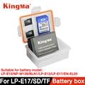 KingMa 5 PZ Custodia In Plastica Titolare Box per la macchina fotografica DSLR batteria LP-E10/NP-W126/BL-N1/E12 LPE12/LP-E17/EN-EL20/EN-EL12/NB-12L