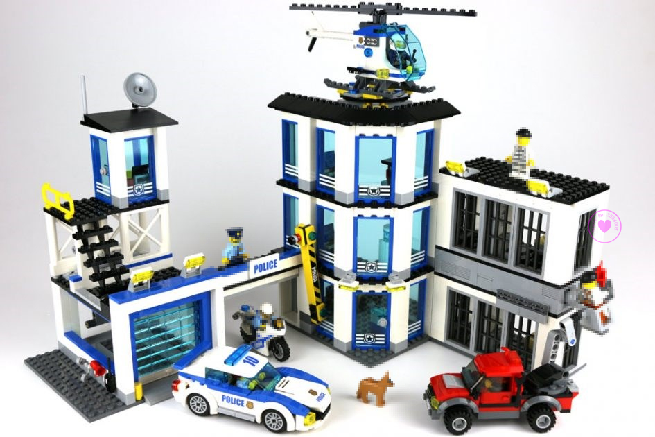 New City Police Station fit legoings city swat police figures Building Blocks Bricks Model 60141 gift kid kids boys diy Toys police station model building kit blocks playmobil helicopter blocks diy bricks educational toys compatible legoings city police