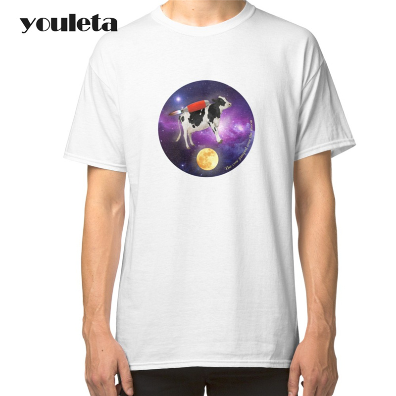 Fashion Over The Moon T Shirt Men Short Sleeve Cotton T-Shirts Over The Moon O-Neck Men Clothing Tops White colors