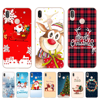 Soft Silicone Phone Cover For Huawei P8 P9 Lite 2017 Mate 10 P10 P20 Lite Pro Honor 9 10 Lite 6X 7X Merry Christmas Phone Case