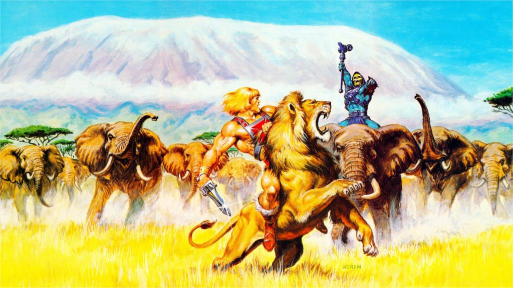 coms He Man Masters of <font><b>the</b></font> Universe elephants <font><b>mountain</b></font> <font><b>lion</b></font> Home Decoration Canvas Poster