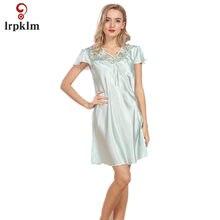 efd9493817 Satén camisón de seda vestido de pijamas ocasionales mujer de noche de  Mujeres de noche Encaje · 7 colores disponibles
