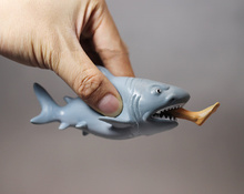 Wholesale Simulation Animal Shark eating a man mini Figurine 11.5cm Doll Action Figure Model Kids Toy Doll Hot Sale In Stock