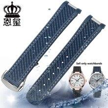 Miękki silikonowy zegarek z wodoodporną gumowa bransoletka rozmieszczenie klamra dla mężczyzn pasek na rękę nadaje się do OMEGA 300 AT150 8900