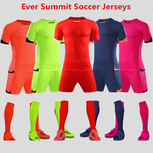 ee5bf93c4 Ever Summit Soccer Jersey 18 19 Football Shirts Ronaldo Training Sets Blank  Version Tracksuits Adult Mbappe