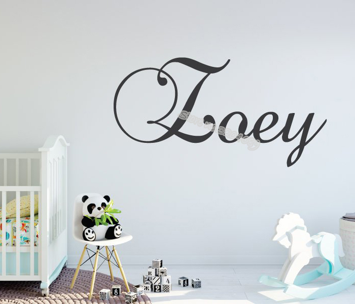 Custom Personalized Name Wall Stickers Vinyl Decal Kids Nursery Decor Art Gift