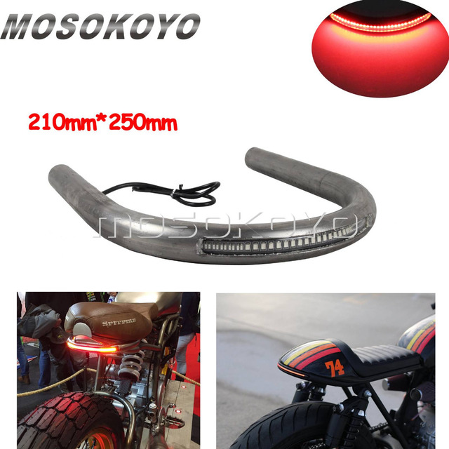 210mm Motorcycle Flat Rear Seat Hoop Frame Loop 1 Tube With Led