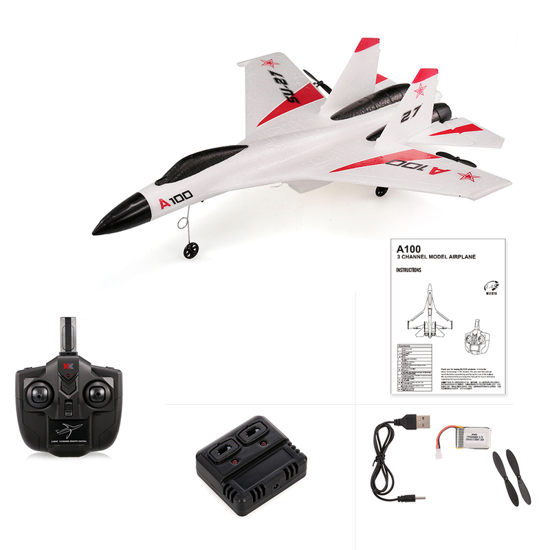 Image 4 - Wingspan 2.4G 3CH RC Airplane A100 J11 EPP 340mm Fixed Wing Aircraft Outdoor RC Toys Children Gift Glider Toy Planes-in RC Airplanes from Toys & Hobbies