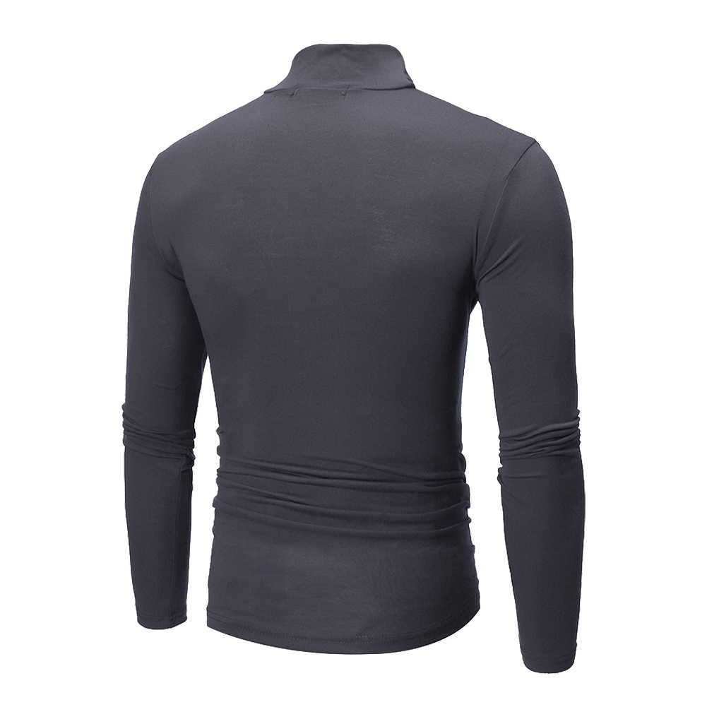 Men's Winter Warm Long Sleeve Cotton Cotton High Neck Pullover Sweater Tops Turtleneck UK