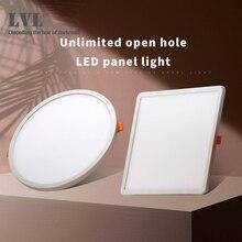 Светодиодный панельный светильник, ультра тонкий встраиваемый светильник s 6 Вт 8 Вт 15 Вт 20 Вт 220 в 230 В круглый квадратный потолочный панельный светильник