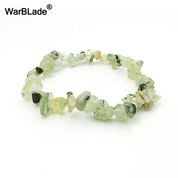 WBL 35Color Natural Gem Stone Bracelet Irregular Crystal Stretch Chip beads Nuggets Bracelets Bangles Quartz Wristband For Women 4