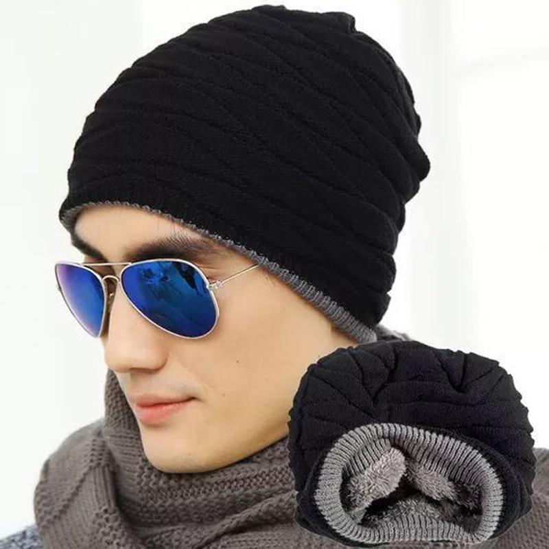 JXGXSX Brand Knitted Hat Men's Winter Hats For Women Men Caps Gorros Warm Moto Fur Winter Beanie Fleece Knit Bonnet Ski Cap winter women beanie warm fluffy fur hat knitted ski hat baggy crochet cap bonnets femme en laine homme gorros de lana 62