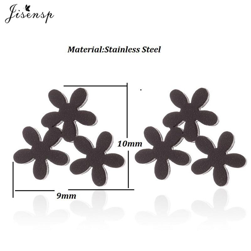 Jisensp Vintage Geometric Plant Stud Earrings for Women Stainless Steel Jewelry Earings Small Earrings Boucle d'oreille Femme