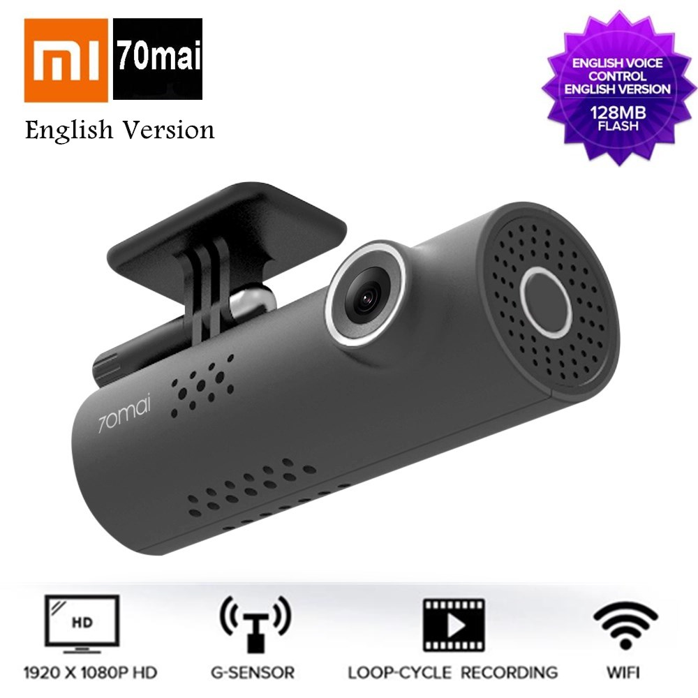 Xiaomi MIJIA 70 Minutes Dash Cam Wireless WiFi DVR With 130 Degree 1920 X 1080P Full HD Night Version G-Sensor English Version for umi rome x my version wsc05521 hd v1 100