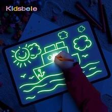 Big Size Illuminate Light Drawing Board In Dark Kids Paint Toy DIY Educaitonal 2020 Children Toys Draw with Light