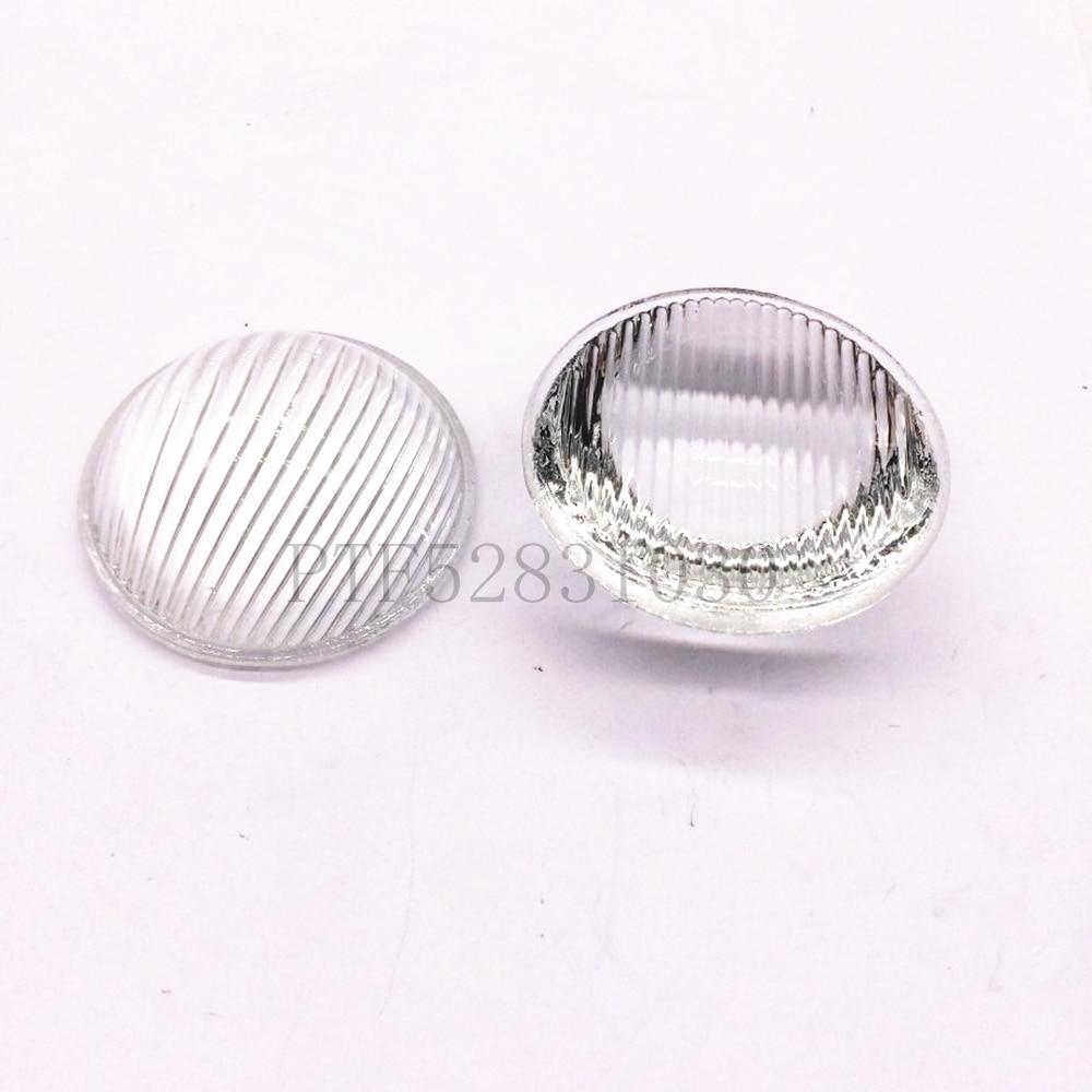 10pcs 51mm Striped Convex Glass Led Lens for Led Spotlight Car Light Flashlight
