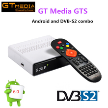 GT Media GTS Satellite Receiver DVB-S2 dvb s2 Android 6.0 TV BOX +DVB-S/S2 2GB RAM 8GB ROM S905D BT4.0 Smart tv box