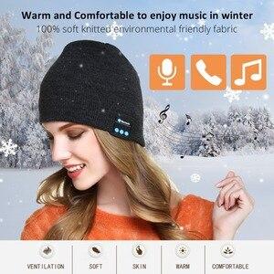 Image 2 - Bluetooth イヤホン音楽帽子冬ワイヤレスヘッドフォンキャップヘッドセットとマイクスポーツ帽子魅ソニー Xiaomi 電話ゲーミングヘッドセット