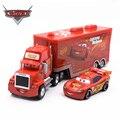 Cars Disney 3 Toys 2pcs Lightning McQueen Diecast Metal Alloy Modle FiguresKids Toy Transporter Truck Boy Educational oyuncak