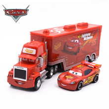 Cars Disney 3 Toys 2pcs Lightning McQueen Diecast Metal Alloy Modle FiguresKids Toy Transporter Truck Boy Educational oyuncak