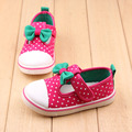 Outono crianças shoes meninas shoes confortável e casual shoes bowtie bonito princesa meninas casuais das sapatilhas do bebê shoes