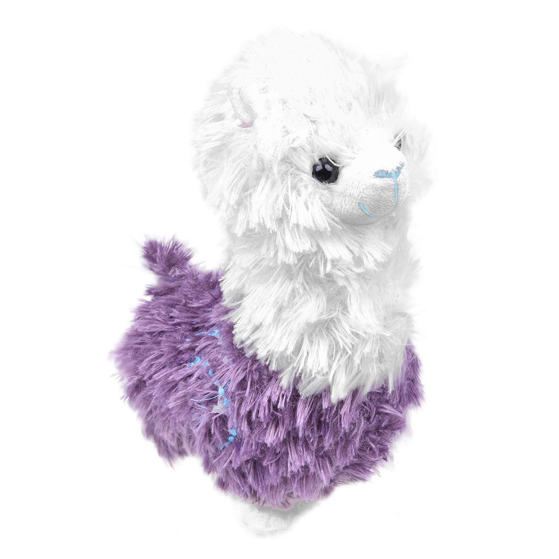 HOT Cute Grass Mud Horse Llama Alpaca Sheep Fleece Stuffed Plush Doll Toys Purple 20cm