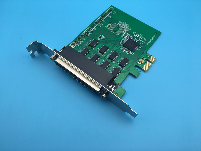 8 Port Serial RS232 PCI-E X1 Controller Card with Fan-out Cable XR17V358 Chipset 12x serial port connector rs232 dr9 9 pin adapter male