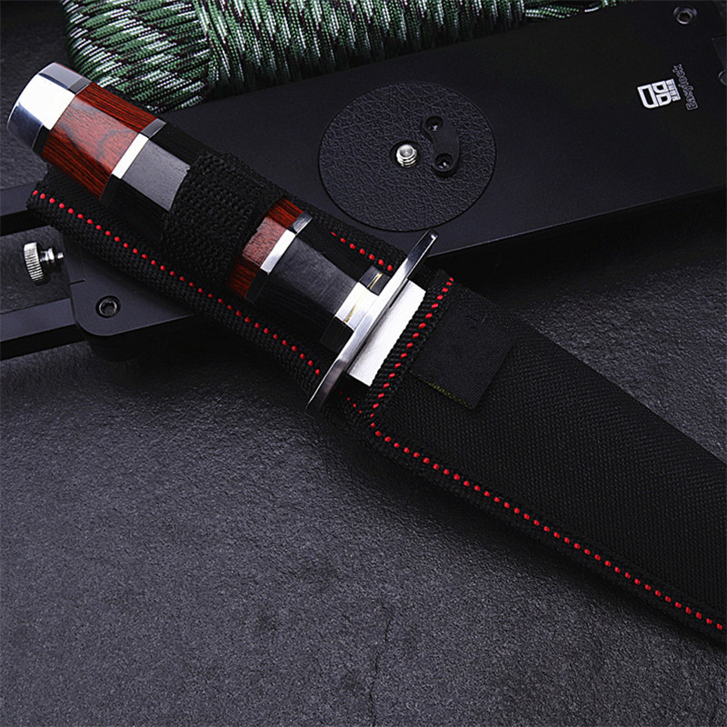 Купить с кэшбэком 2020 New Hot Sale Outdoor Fixed Tactical Straight Knife Wilderness Self-defense Camping Survival Sharp Fruit Army Knives Tools