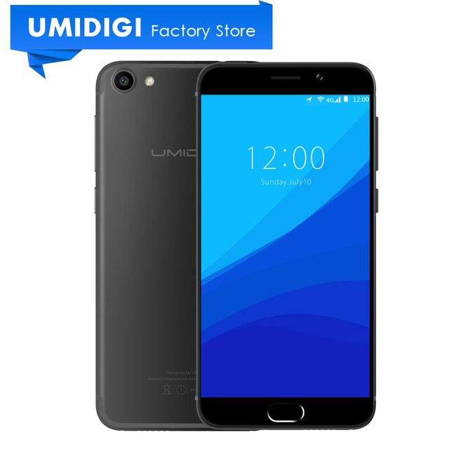 Новый Umidigi G 5.0 дюймов Андроид Телефон MTK6737 Quad-core 2 ГБ ram 16 ГБ rom google телефон 4 г lte compact global mobile телефон