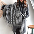 2016 New Fashion Winter Houndstooth Long Fringed Shawl Scarf For Women/Girl Free Shipping