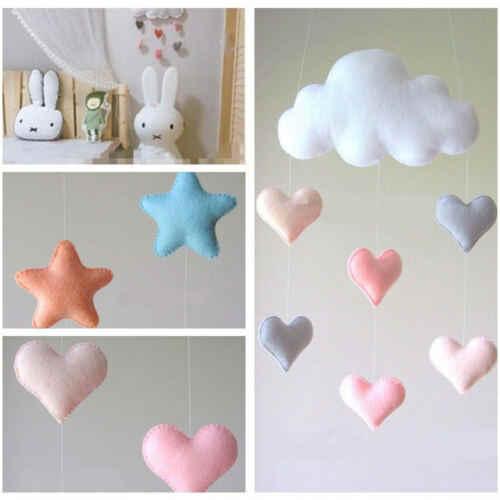 Мягкий, для новорожденных плюшевые игрушки на кроватку детская коляска Кровать Висячие украшения звезда Облако Висячие игрушки