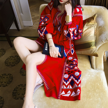 Palenda длиной до пола чешские белье слоеного рукав фонарь рукав вышивка красный шнуровкой национальной тенденции жидкости цельный платье