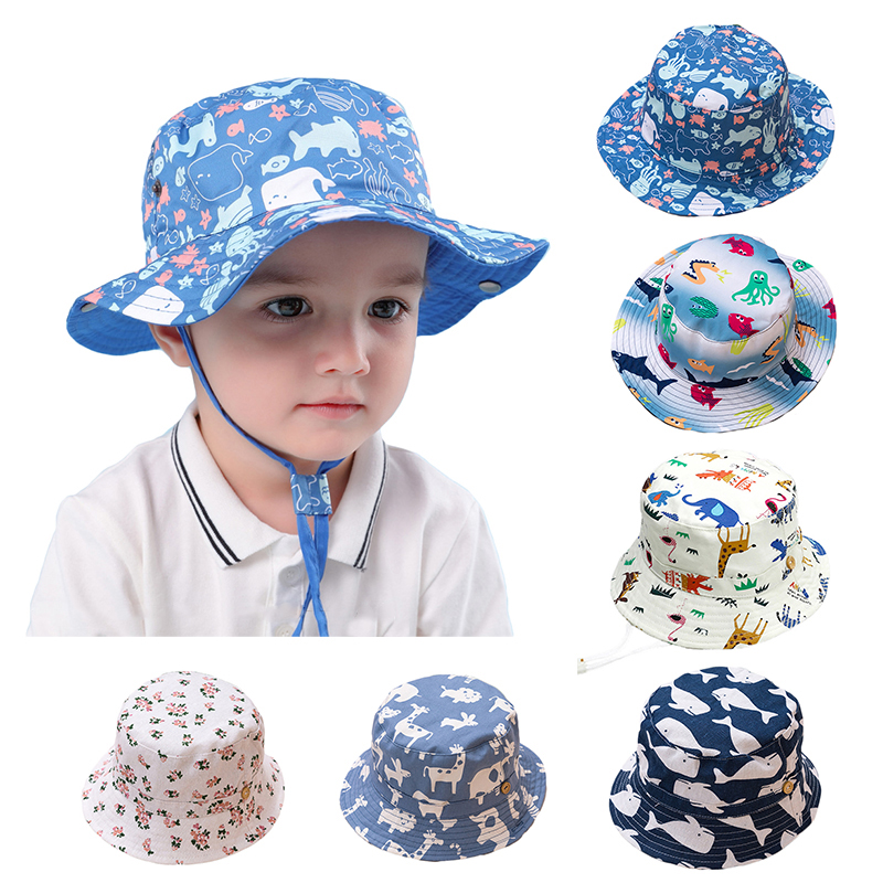 Baby Girls Hats Toddler Summer Boys Sun Hat Wide Brim Sun Protection Bucket Beach Hat for Kids