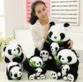 1 unids 25 CM sentado madre y el bebé Panda de peluche juguetes de peluche muñecas almohadas suaves juguetes de los niños buena calidad libera el envío