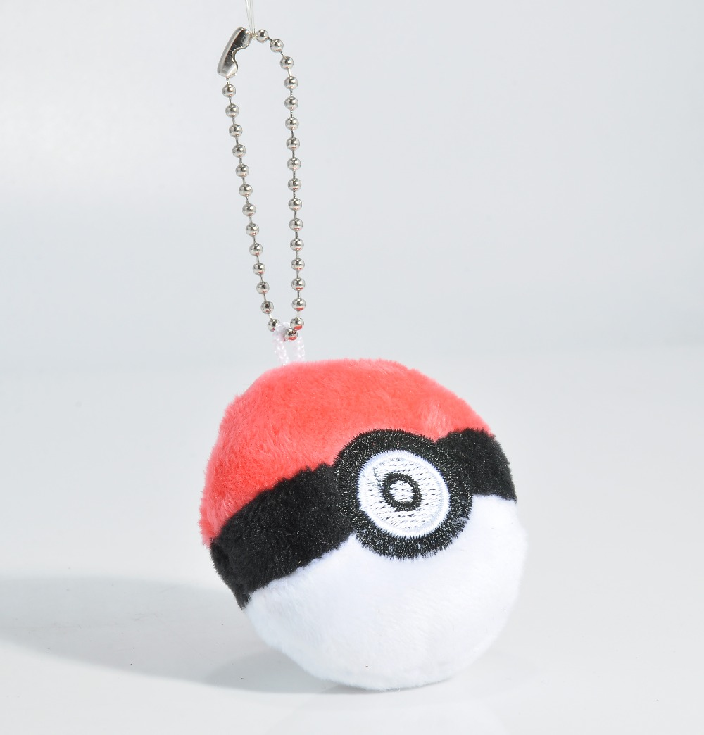 Squishy Ball Plush : Beautiful Red Pokemon Poke Ball Chain Doll Plush Stuffed Soft Toy Bag Ornaments Car keychain ...