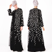 ab8e73331e Women Muslim Kaftan Dress Abaya 2019 Ladies Islamic Clothes Dress Islamic  Long Sleeve Maxi Abaya Kaftan. As mulheres muçulmanas abaya kaftan vestido  ...