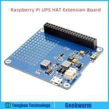 Placa Raspberry Pi UPS HAT Expension, adaptador de corriente, módulo de fuente de alimentación de batería de ion de litio para Raspberry pi 3 B +