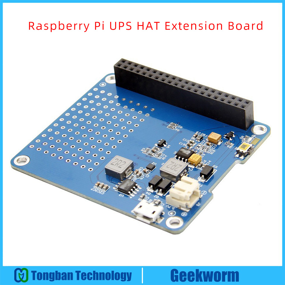 US $13 91 13% OFF|Raspberry Pi UPS HAT Expension Board | Power Adapter / Li  ion Battery Power Source Power Supply Module for Raspberry pi 3 B+-in Demo