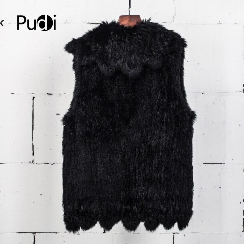 Fourrure Lapin Gilet Réel Vt7024 Femmes Pudi La De Noir Tricoté Mode Vestes Couleur Nouvelle xFAzF8qwY