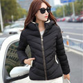 Short Winter Jacket Women 2017 Fashion Slim Hooded Overcoat Solid Female Outerwear Plus Size Cotton-padded Warm Ladies Parka