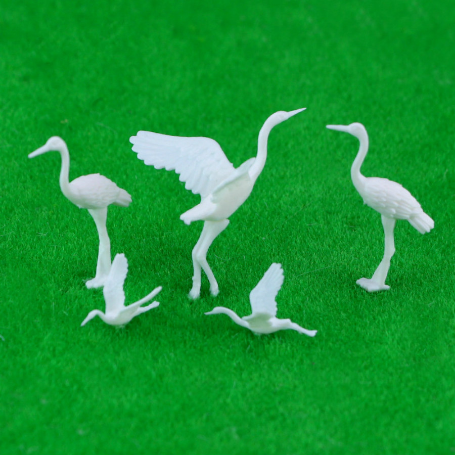 20pcs Model Train Railway plastic Birds Small figure Toy Red-crowned Crane 1:75 OO Scale New  model building kit