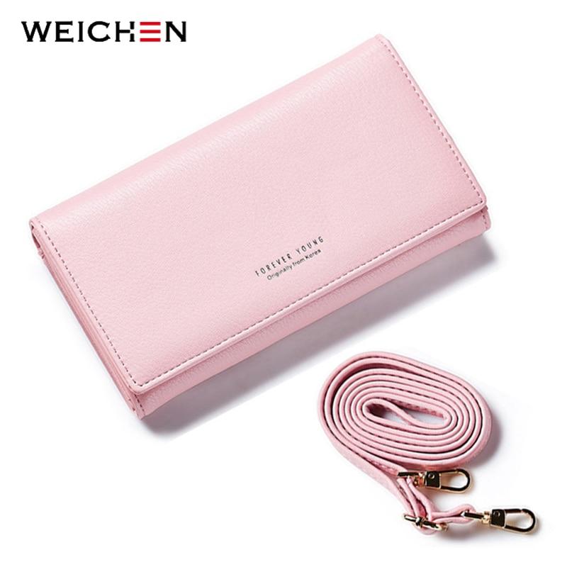 WEICHEN New Mini Women Crossbody Bag Brand Leather Messenger Bags Handbag Clutch Purses Clutch Wristlet Bolsas Long Wallets все цены