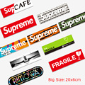 20x6cm Big Size Supreme Rimow* FRAGILE SupCAFE Car Styling Graffiti Sticker Bicycle Laptop Skateboard Trolley Luggage Decals