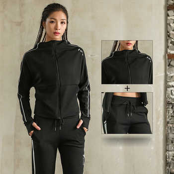 News Sport Jacket+Pants Quick Dry Breathable Yoga Suits 2 in 1 Winter Running Suit Female Gym Jogging Sport Set Autumn For Girls - DISCOUNT ITEM  30% OFF Sports & Entertainment